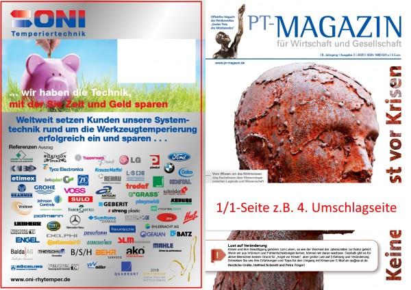 PT-Magazin | 1/1 - Seite im Printmagazin